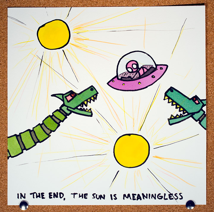 In the end the sun is meaningless